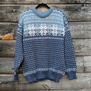 Vintage Dale of Norway Snowflake Crew Neck Sweater